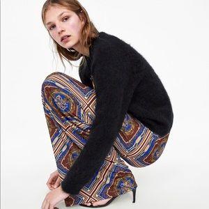 Zara printed palazzo trousers